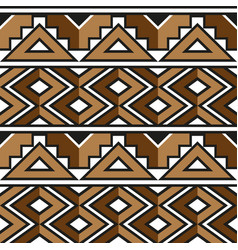 African zulu decorative pattern for the vector