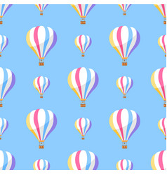 Airballoon with colorful stripes seamless pattern vector
