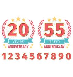 anniversary emblems vector image