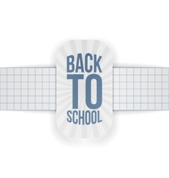 Back to School paper Banner with Ribbon vector