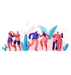 boyfriend girlfriend couple dance together set vector image