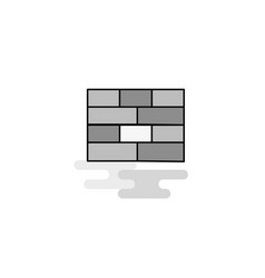 bricks wall web icon flat line filled gray icon vector image