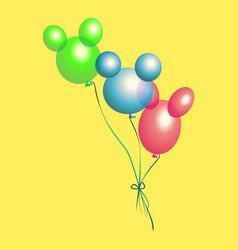 Bright multicolored balloons vector