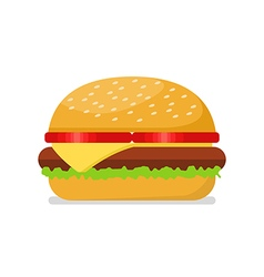 Burger in flat style vector