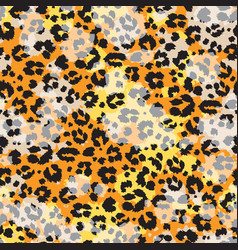 colored abstract leopard skin wallpaper vector image