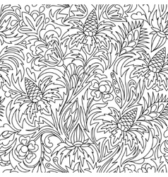 Coloring book Hand drawn Black and white vector image