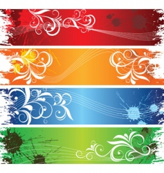 Coloured banners vector
