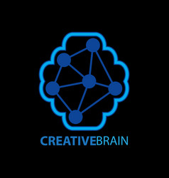 creative brain logo vector image