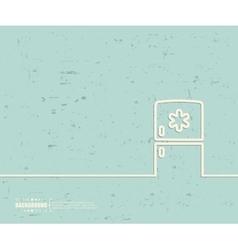 Creative fridge Art template vector