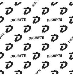 Crypto seamless design digibyte cryptocurrency vector
