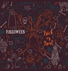 dark halloween seamless patterns endless vector image