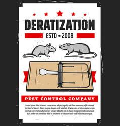 Deratization service rodent rats extermination vector