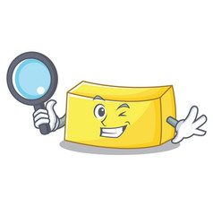 Detective butter character cartoon style vector