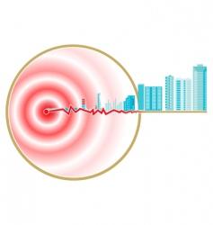 Earthquake epicenter vector