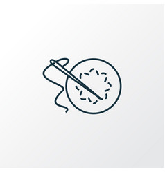 embroideries icon line symbol premium quality vector image