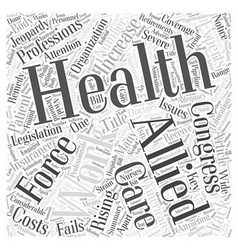 Experts Say the Allied Health Work Force Is in vector