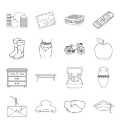 fitness furniture computer and other web icon in vector image