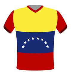 flag t-shirt of venezuela vector image