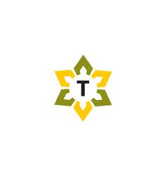 Flower infinity letter t vector