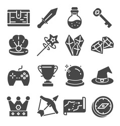 game icon elements and items vector image