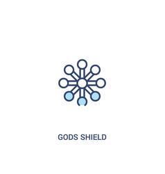 Gods shield concept 2 colored icon simple line vector