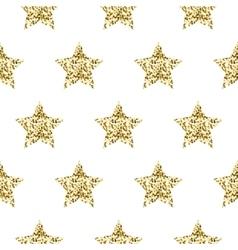 Gold foil shimmer glitter star seamless pattern vector