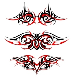 Gothic style tattoo set vector image vector image