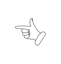 hand cursor line icon black on white vector image