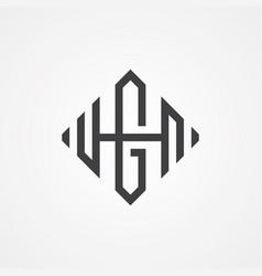 hg letter vector image