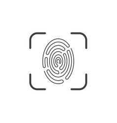 Icon of a fingerprint scanner on a white vector