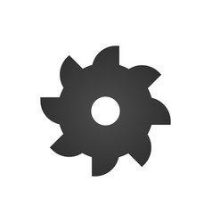 Industrial saw icon flat isolated sign symbol vector