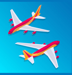 Isometric passenger airplane vector