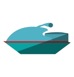 Jetski vehicle isolated icon vector