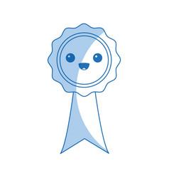 Kawaii rosette certificate cartoon design vector