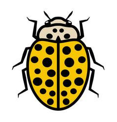 Ladybug logo icon with twenty two black spots vector