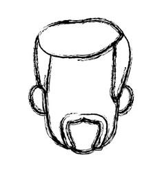 Male face avatar profile icon vector