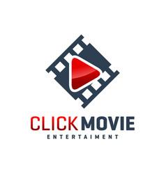 modern movie studio logo vector image