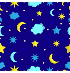Night sky seamless pattern in vector