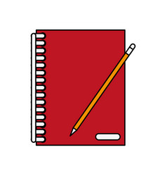 notepad with lines icon image vector image