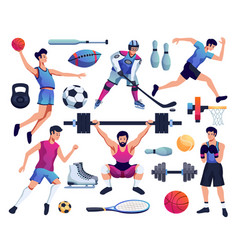 People involved in sport set vector
