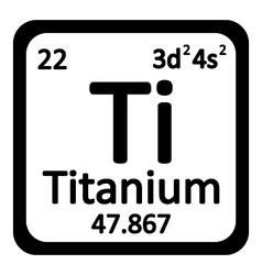 Periodic table element titanium icon vector