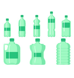 plastic water bottle blank nature clean vector image