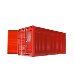 Red Container vector image