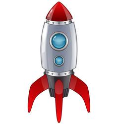 Rocket launch cartoon vector