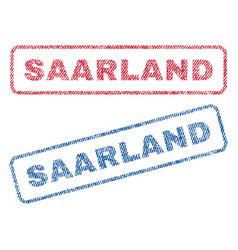 Saarland textile stamps vector