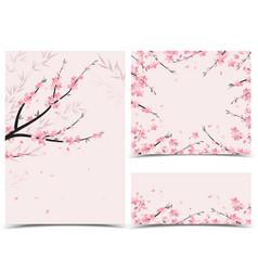 Sakura branch decoration vector