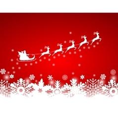 Santa Claus in sled rides vector