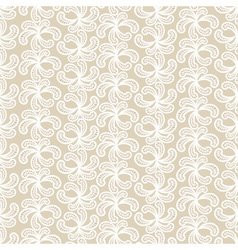 Seamless beige and white lacy pattern vector image
