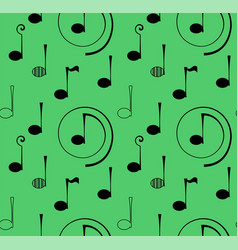 Seamless pattern note music vector