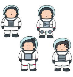 set of astronaut vector image